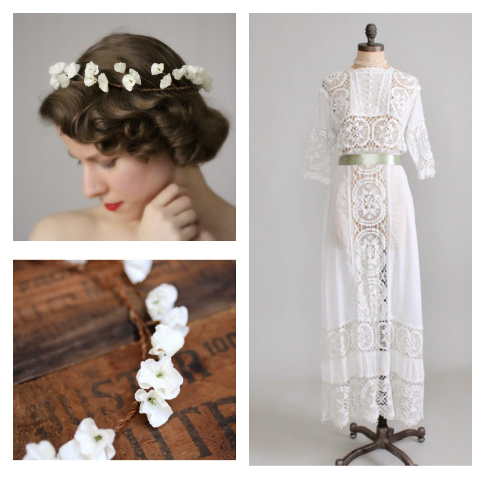 1910s Edwardian Bride #vintage #bride #1910s #wedding #edwardian #fashion #hair