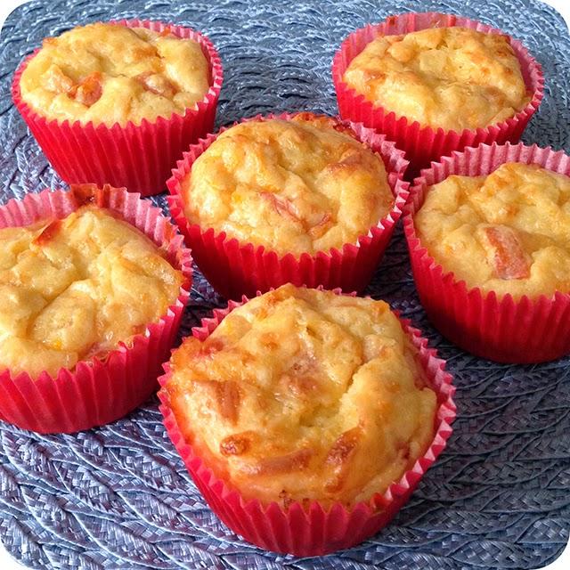 Cupcake Salgado de Cenoura