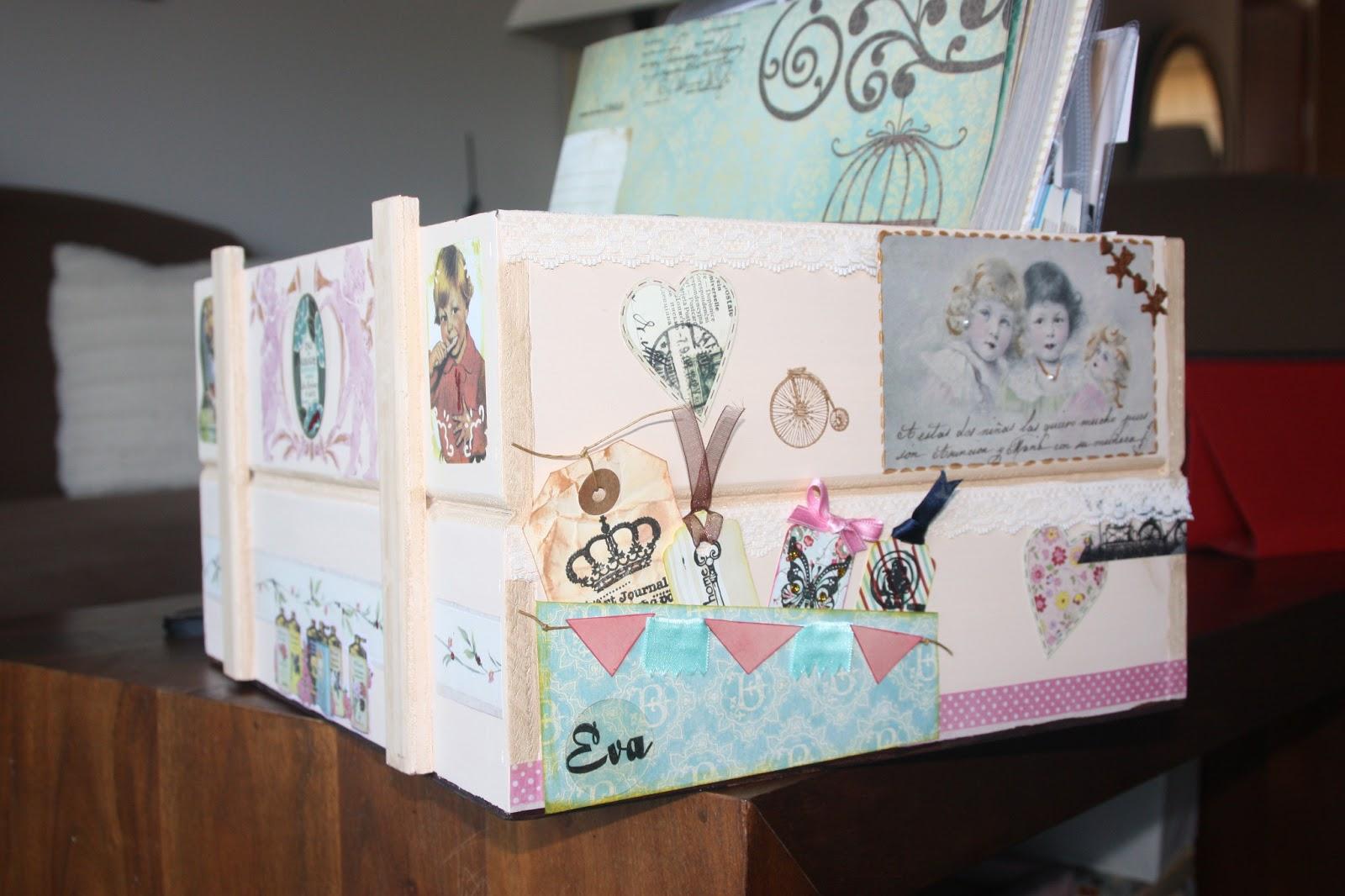 Scrap my sweet valentine caja decoupage scrapbooking - Cajas de vino para decorar ...