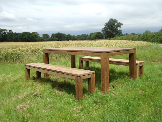 Bali Reclaimed Teak Picnic Bench Set