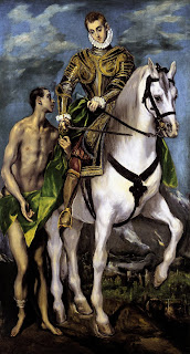 San Martín y el mendigo, El Greco