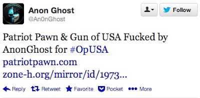 Patriot Pawn & Gun of USA Fucked by AnonGhost for #OpUSA