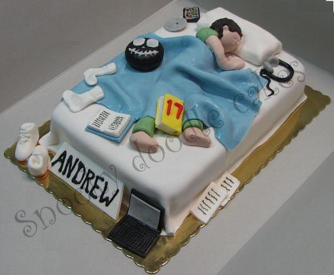 Cake Decorating Ideas For 18 Year Old Boy : Snooky doodle Cakes: Teenage bedroom cake