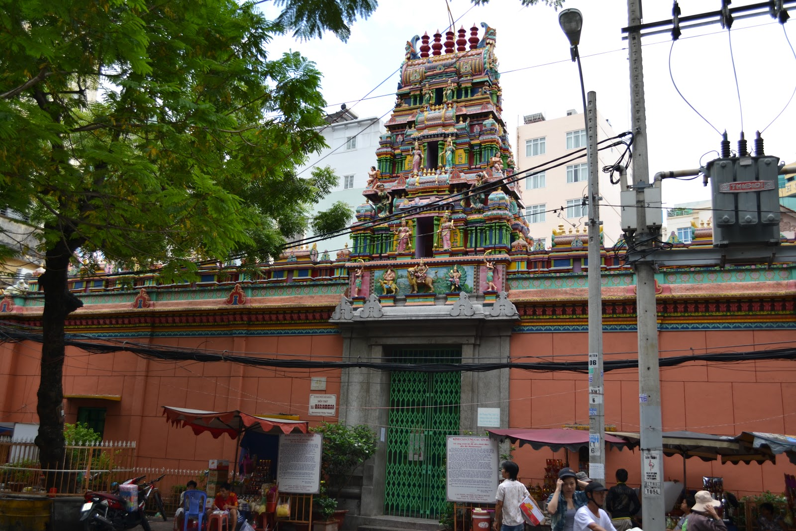 Hindu temple in ho chi mih city dedicated to the Hindu Goddess Mariamma