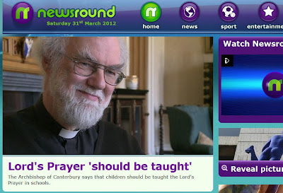Newsround promotes religion 31st March 2012