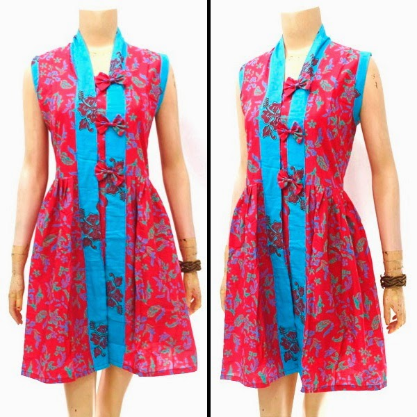 Dress Batik Motif Bunga