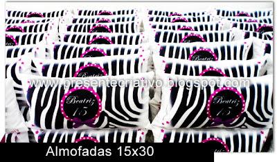 Lembranças personalizadas com tema Zebra