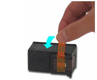 eliminar cinta de protección cartuchos de tinta canon
