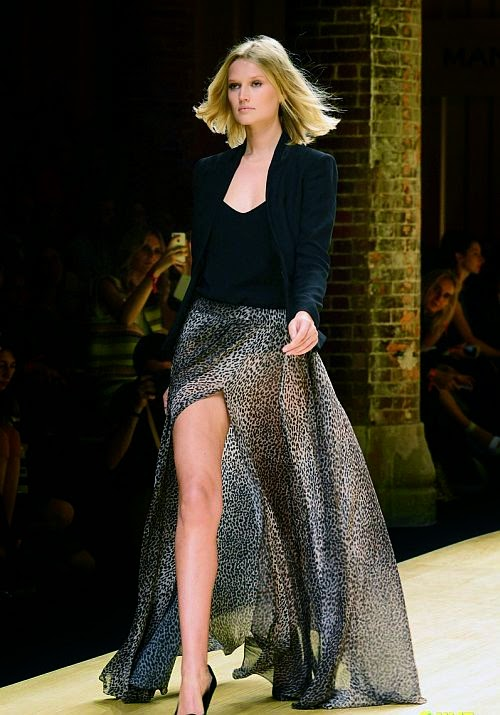 We'd hate her if we didn't love her so much, but during the Fashion Week at Barcelona, Spain on Monday, June 30, 2014. . . Toni Garrn's uncontested.