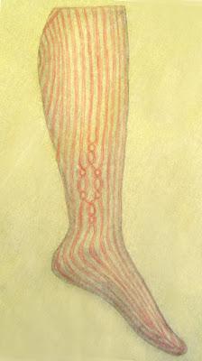 Calliope brioche socks - sketch