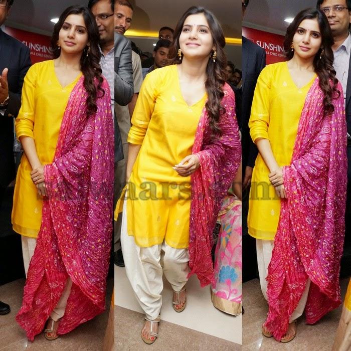 Samantha in Bandini Duppatta