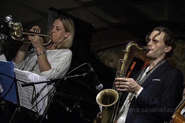 Ingrid Jensen amb Tobias Meinhart, Jamborre Jazz Club, Barcelona 7-11-2015
