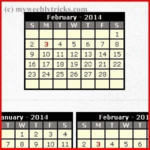 Add Basic calendar to Weebly