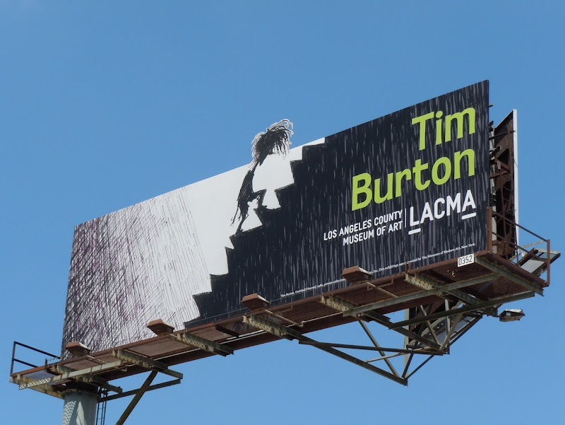 Tim Burton LACMA exhibition billboard