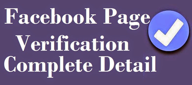 Facebook Page Verification Detail with setup to Send image page