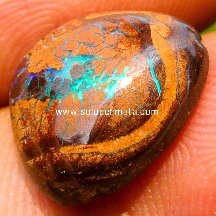 Batu Permata Boulder Opal Kalimaya Mexico - Sp064