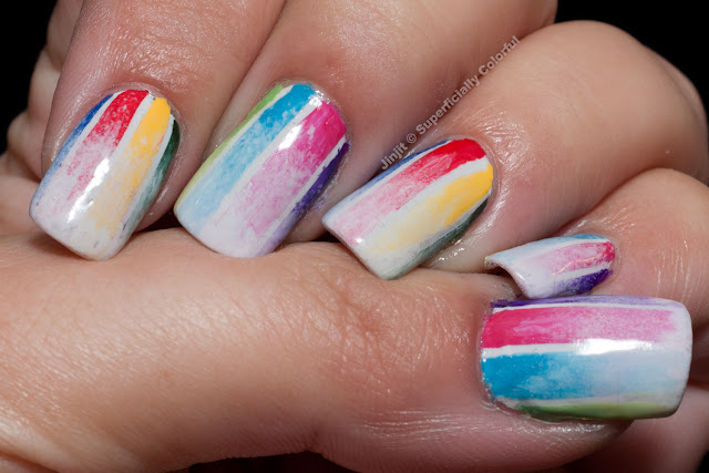 Watercolor Effect Manicure