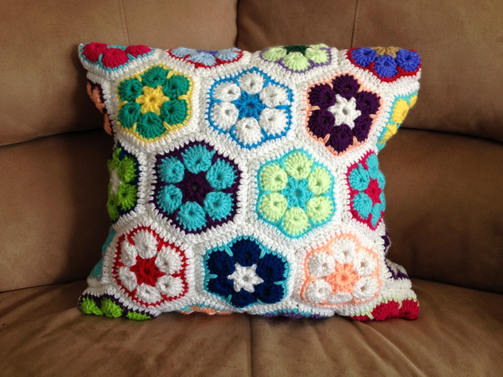 My Crocheted World: African Flower Pillowcase Free Instructions and ...