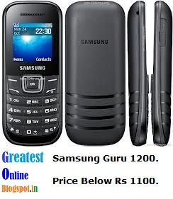 Samsung Guru 1200, Best Mobile under Rs1500