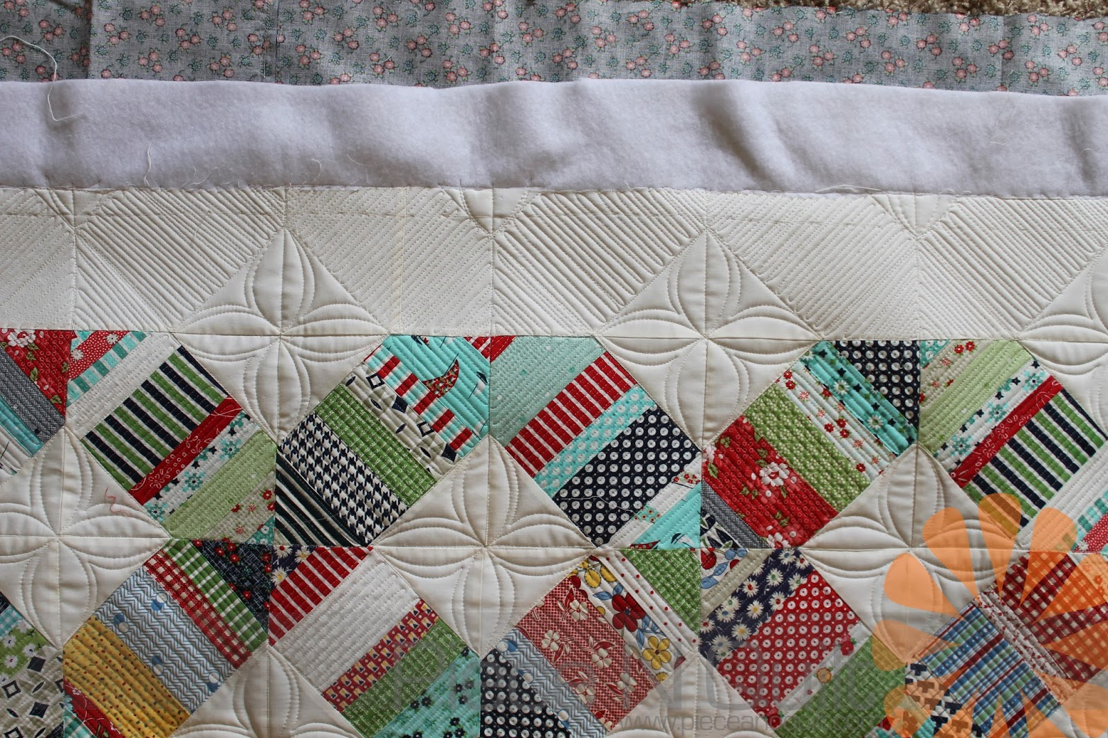 Piece n quilt july 2015 custom machine quilting a fun border idea maxwellsz