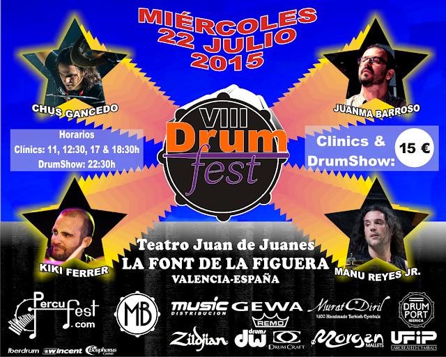 cartel del Drumfest dentro del percufest 2015