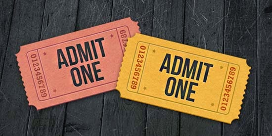 Ticket Icons PSD