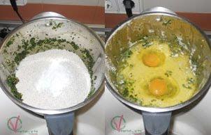 Mezclar el resto de ingredientes sólidos y líquidos.