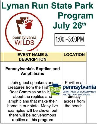 7-26 Lyman Run State Park Program
