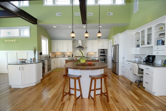 Cocinas en color verde pistacho colores en casa for Cocina verde pistacho