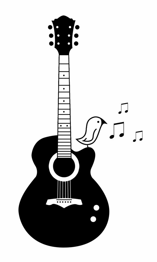 Tattoo music notes and guitar tattoosAcoustic Guitar Drawing Tattoo