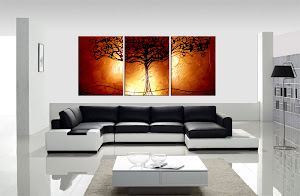 "ORIGINAL ABSTRACT PAINTING ""TREE OF LIFE COPPER"" ONLY $250"