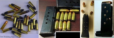 Ammunition Discovered at (Left - Right) MSY, OMA, IAH, LGA