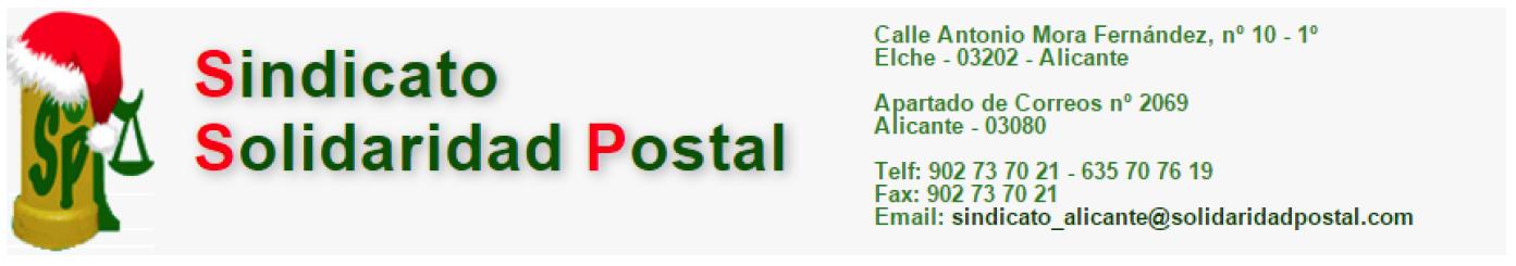 SINDICATO SOLIDARIDAD POSTAL-ELECCIONES SINDICALES-SINDICAT SOLIDARITAT POSTAL-ELECCIONS SINDICALS.