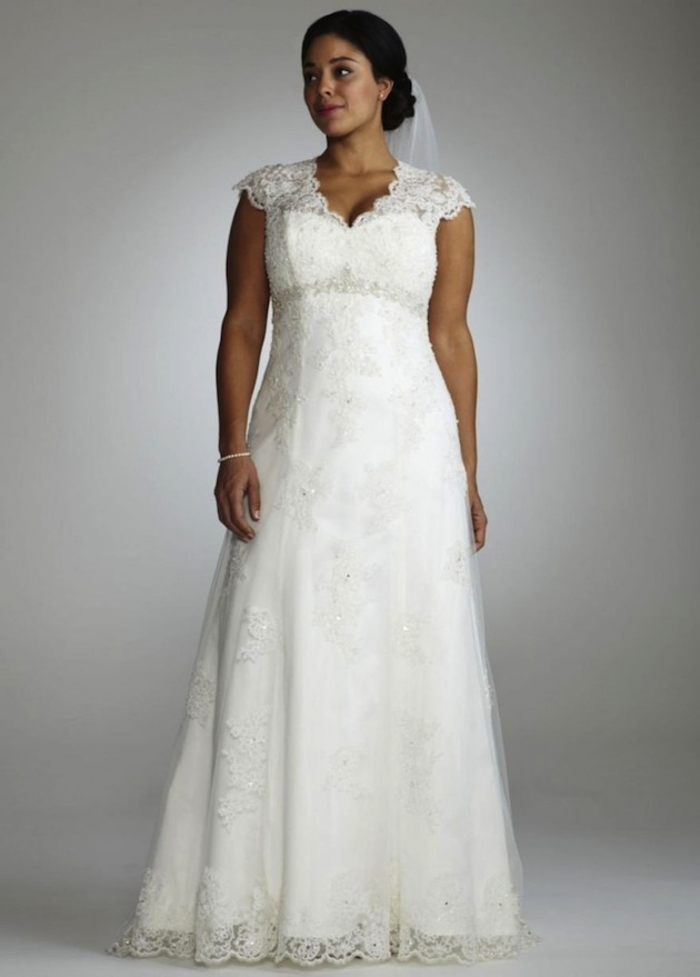 Plus size wedding dresses mature brides trend of wedding for Wedding dresses for plus size mature brides