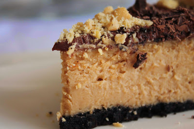 Tarta de queso_crema de cacahuete_tarta americana_receta tarta queso