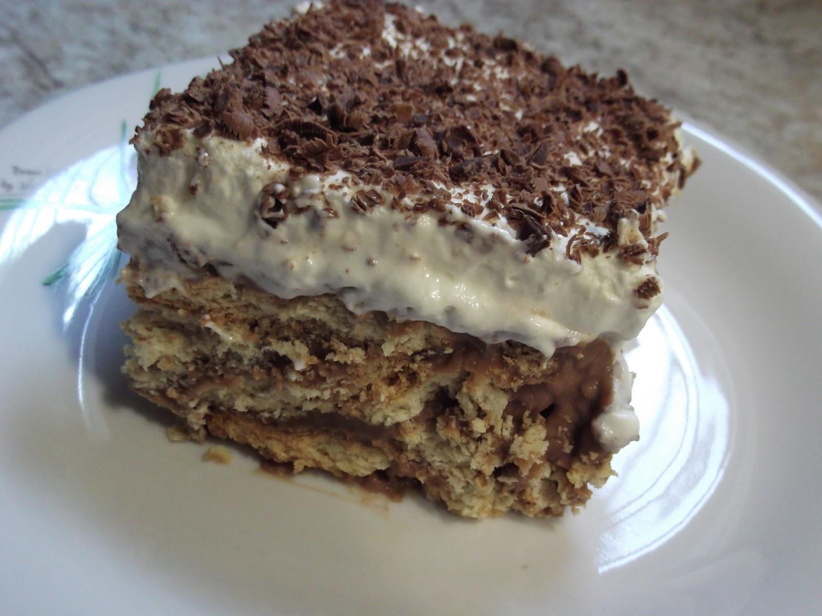 Μπισκοτένια τούρτα