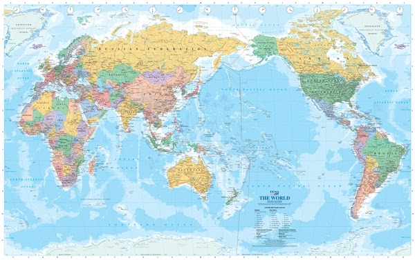 world map projection americas centered