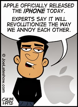 Review on Phone Launch Humor Cartoon