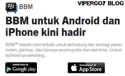 Berita BBM Untuk Android Dan iPhone Kembali Hadir
