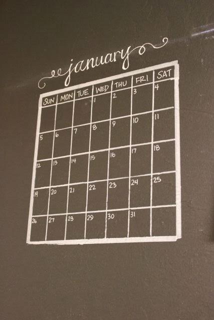 Chalkboard Calendar Wall : Luscious confections chalkboard wall calendar how to