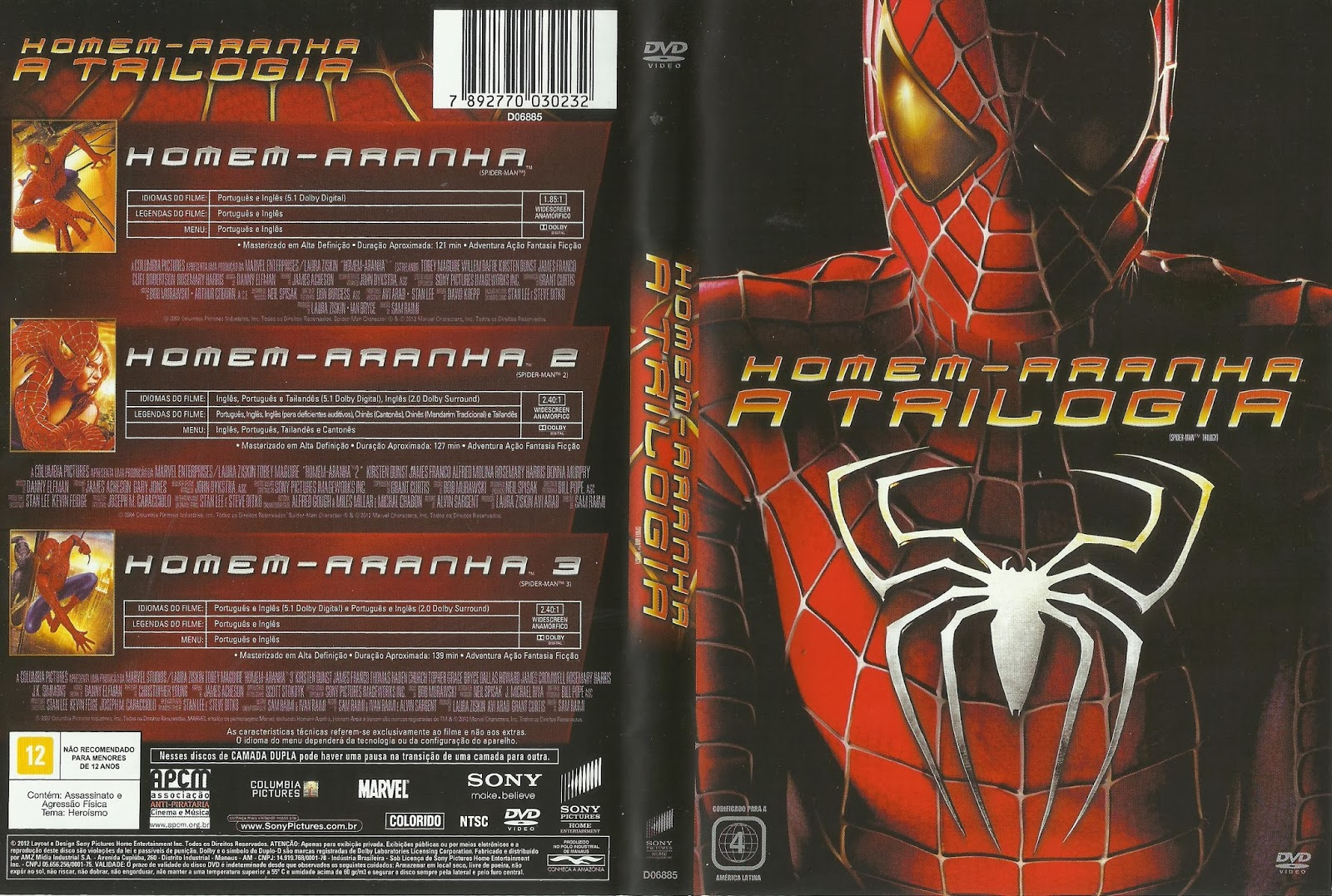 Homem Aranha - A Trilogia | Sergipe Capas