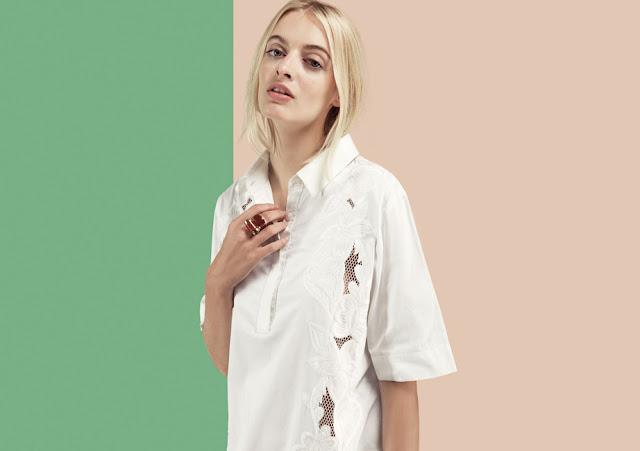 white shirt dress detail,
