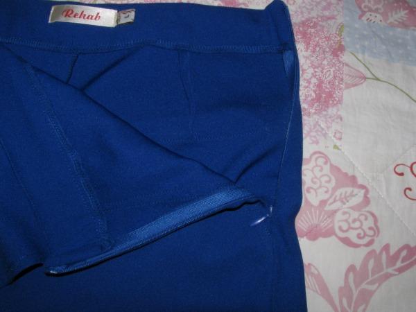 Blue skorts Reißverschluss / zipper