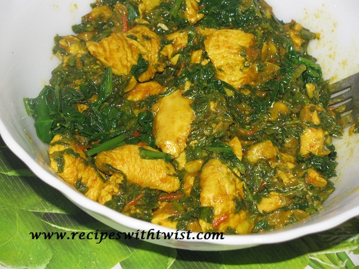 Spinach Chicken a Healthy Leafy Chicken Dish. ~ Recipes with Twist