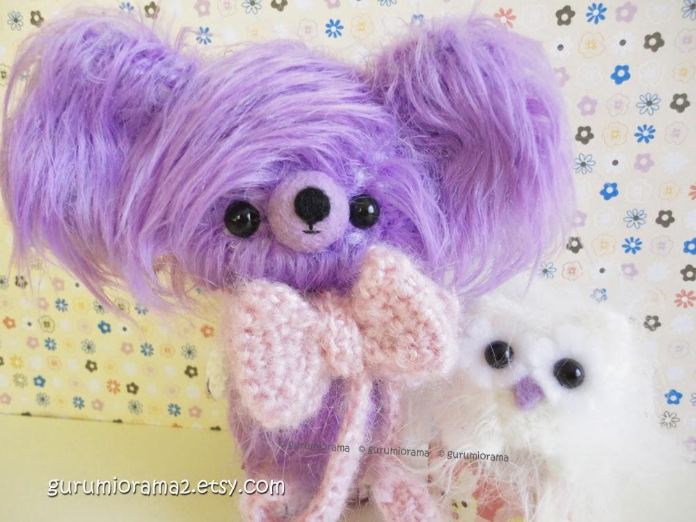 lilac lavender fuzzy bear