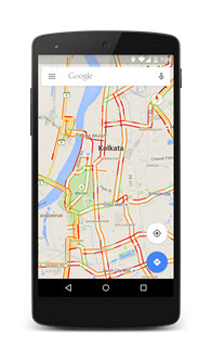 Now you can check out real time traffic conditions within 12 new cities in India, right on Google Maps