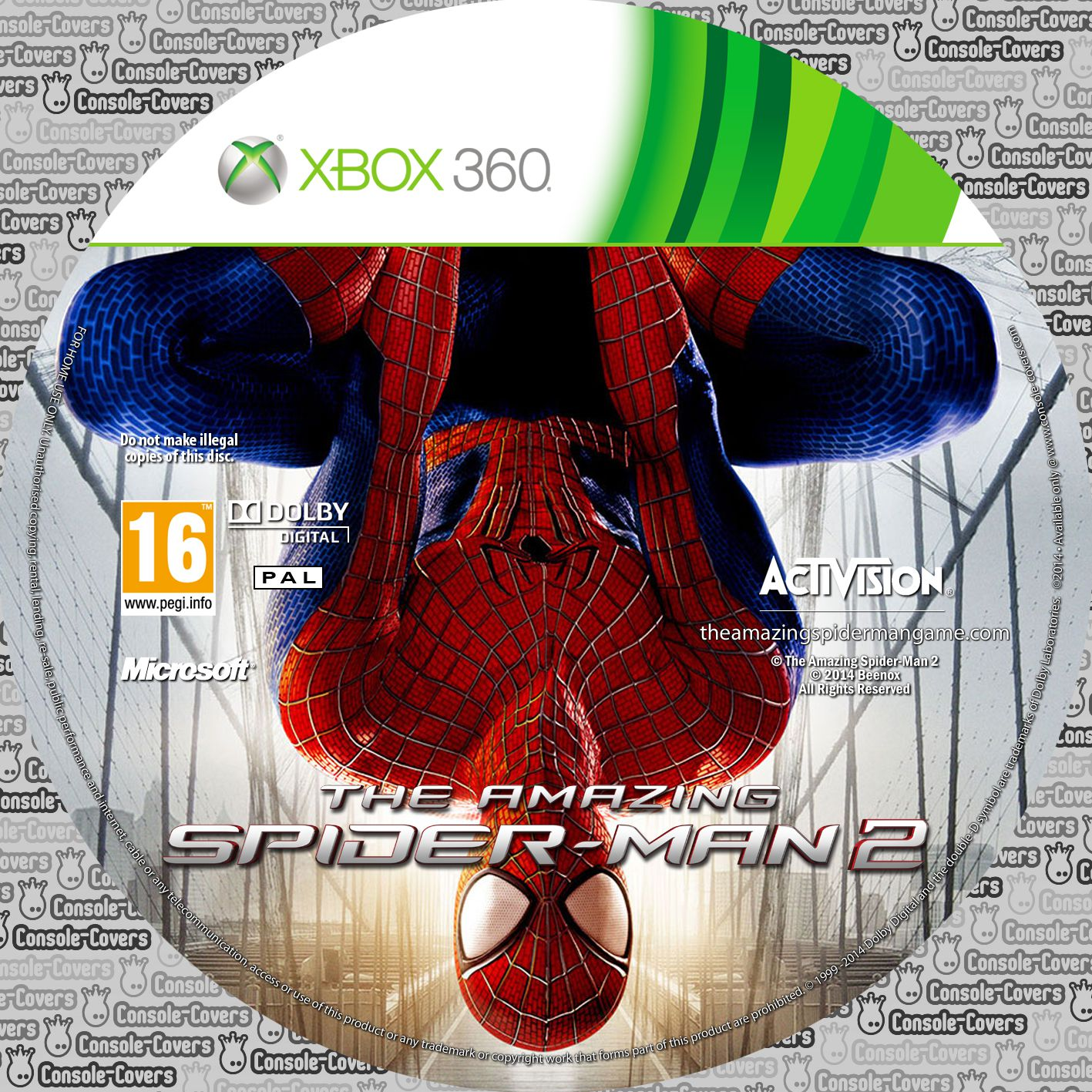 Label The Amazing Spider-Man 2 Xbox 360