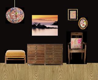 black mood board, black room, black room makeover
