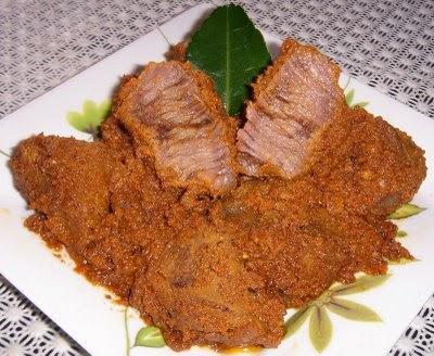 Resep rendang daging, cara membuat rendang daging sapi, menu rendang padang enak