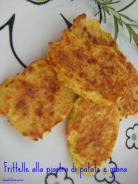frittelle alla piastra di patate e grana